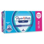 paper-mate-roller-ball-retractable-gel-pen-blue-ink-medium-dozen-pap1746325