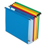 "Pendaflex Hanging File Folders, Assorted, 2"" Expansion, 20/Box (PFX6152X2ASST)"
