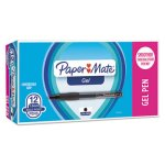 paper-mate-roller-ball-retractable-gel-pen-black-ink-bold-dozen-pap1753365