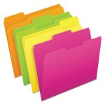 Pendaflex Glow File Folders, Letter, Assorted Colors, 24 Folders (PFX40523)