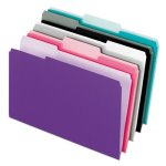 Pendaflex File Folders, 1/3 Cut Top Tab, Pastel, 100 per Box (PFX421013ASST2)