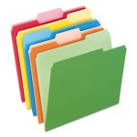 Pendaflex Two-Tone File Folders, Letter, Assorted Colors, 100/Box (PFX15213ASST)