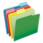 Pendaflex CutLess/WaterShed File Folders, Letter, Assorted, 100/Box (PFX48434)