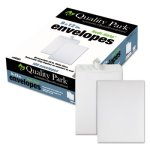 Quality Park Redi Strip Catalog Envelope, 9 x 12, White, 100/Box (QUA44582)
