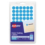 "Avery Removable Color-Coding Labels, 1/2"" dia, Light Blue, 840 Labels (AVE05050)"