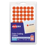 Avery Removable Self-Adhesive Labels, Neon Red, 840 Labels (AVE05051)