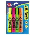 fluorescent-highlighters-yellow-orange-green-pink-4-per-set-ave24063