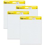 Post-it Self-Stick Easel Pads, Quad Rule, 4 30-Sheet Pads/Carton (MMM560VAD4PK)