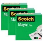 "Scotch Magic Tape, 1"" x 2592"", 3"" Core, 3 Rolls (MMM810723PK)"