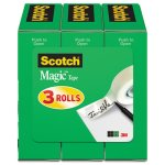 "Scotch Magic Tape Roll Refill, 1/2"" x 1296"", 3 Refills (MMM810H3)"