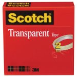 "Scotch Transparent Tape, 3/4"" x 2592"", 3"" Core, Clear, 2 Rolls (MMM6002P3472)"