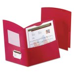Oxford Contour Two-Pocket Folder, Recycled Paper, 100-Sheet, Red (OXF5062558)