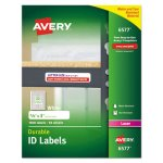 Avery 6577 Durable ID Labels, 5/8 x 3, White, 1600 Labels (AVE6577)