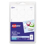 Avery Print or Write Removable Multi-Use Labels, White, 600/Pack (AVE05410)
