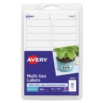 Avery Print or Write Removable Multi-Use Labels, White, 840 Labels (AVE05422)