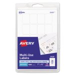 Avery Print or Write Multi-Use Labels, 3/4 x 1, White, 1000 per Pack (AVE05428)