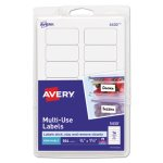 Avery Print or Write Removable Multi-Use Labels, White, 504 Labels (AVE05430)