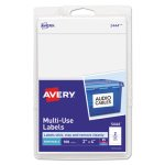 Avery Print or Write Removable Multi-Use Labels, 2 x 4, 100/Pack (AVE05444)