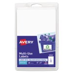 Avery Print or Write Removable Multi-Use Labels, 4 x 6, 40 Labels (AVE05454)