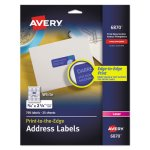 Avery Return Address Labels for Color Laser & Copier, White, 750/Pack (AVE6870)
