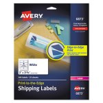 Avery Shipping Labels for Color Laser & Copier, White, 200 Labels (AVE6873)