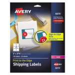 Avery Shipping Labels for Color Laser & Copier, White, 150 per Pack (AVE6874)