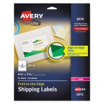 Avery Shipping Labels for Color Laser & Copier, Matte White, 50/Pack (AVE6876)