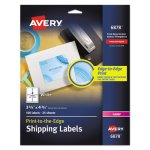 Avery Shipping Labels for Color Laser & Copier, White, 100 Labels (AVE6878)