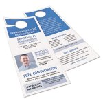 Avery Door Hanger with Tear-Away Cards, White, 80 Doorhangers (AVE16150)