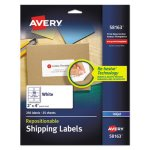 Avery Re-hesive Inkjet Labels, 2 x 4, White, 250/Pack (AVE58163)