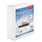 "Cardinal ExpressLoad Locking D-Ring Binder, 3"" Capacity, White (CRD49130)"