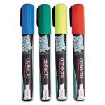 Securit Liquid Chalk Marker, Chisel, Assorted, 4/Pk (DEFSMA510V4)