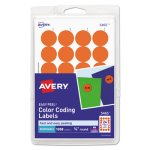 Avery Print or Write Color-Coding Labels, Orange, 1008 per Pack (AVE05465)