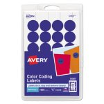 Avery Removable Color-Coding Labels, Dark Blue, 1008 Labels (AVE05469)