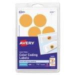 Avery Print or Write Removable Labels, Neon Orange, 400 Labels (AVE05476)