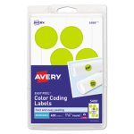 avery-color-coding-labels-1-1-4-diameter-neon-yellow-400-labels-ave05499