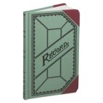 Boorum & Pease Mini Account Book, 9 1/2 x 6, Green/Red Canvas Cover (BOR667R)