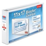 "Cardinal ClearVue Slant-D Ring Binder, 2"" Capacity, 11 x 17, White (CRD22132)"