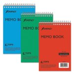 Ampad Wirebound Pocket Memo Book, Narrow Rule, 4 x 6, White, 3 Books (TOP45094)