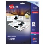 Avery Tickets with Tear-Away Stubs, Matte White, 200 Tickets (AVE16154)