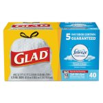 Glad 13 Gallon White Garbage Bags, 24x28, 0.95mil, 240 Bags (CLO78361)