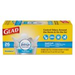 Glad 4 Gallon White OdorShield QuickTie Garbage Bags, 0.5mil, 6 Boxes (CLO78812)