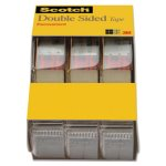 "Scotch 665 Double-Sided Office Tape in Hand Dispenser, 250"", 3/Box (MMM3136)"
