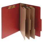 Acco Pressboard 25-Pt. Folder, 8 Section, Earth Red, 10 per Box (ACC16038)