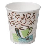 Dixie Hot Cups, Paper, 10oz, Coffee Dreams Design, 1000/Carton (DXE92959)