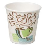 Dixie Hot Cups, Paper, 10 oz., Coffee Dreams Design, 25/Pack (DXE5310DXPK)