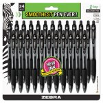 Zebra Z-Grip Retractable Ballpoint Pen, Black Ink, Medium, 24 Pens (ZEB12221)
