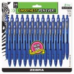 Zebra Z-Grip Retractable Ballpoint Pen, Blue Ink, Medium, 24/Pack (ZEB12225)