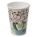 Dixie Hot Cups, Paper, 12oz, Coffee Dreams Design, 500/Carton (DXE5342DX)