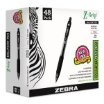 Zebra Z-Grip Retractable Ballpoint Pen, Black Ink, Medium, 48/Pack (ZEB22148)